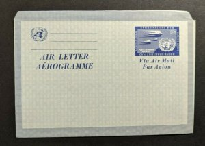 Mint Vintage United Nations Air Letter Postal Stationary