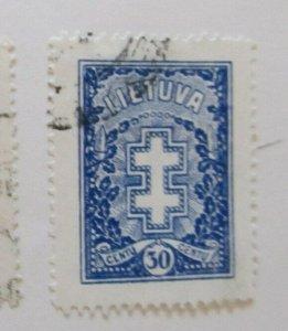A11P5F58 Litauen Lituanie Lithuania 1929 Wmk Webbing 30c used