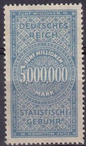 Germany 1921 Statistical Fee Stamp (Z3015)