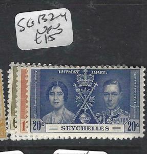 SEYCHELLES  (PP2905B)  KGVI  CORONATION  SG 132-4   MOG