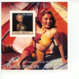 2003 St Thomas & Prince Marilyn Monroe SS MNH