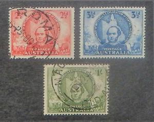 Australia 203-05. 1946 Queensland Exploration, used