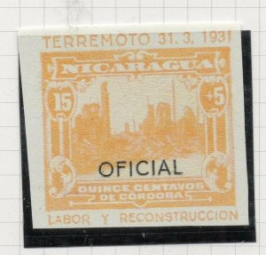 Nicaragua 1931 PROOF Issue Fine Mint Hinged 15c. Optd Official NW-14286