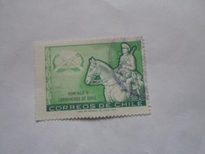 1974 CHILE STAMP USED FINE CON. NO HINGE MARKS, # 2