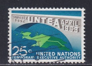 United Nations - New York # 118, UNTEA 1st Anniversary, Used, 1/3 Cat.