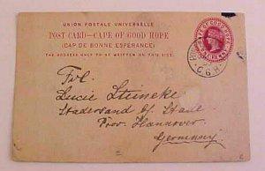 CAPE OF GOOD HOPE  ZULU PICTURE CARD 1900