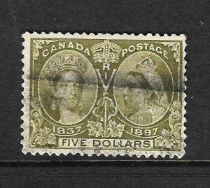 CANADA 1897  $5  JUBILEE  FU  Sc 65 SG 140
