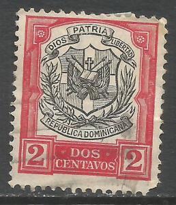 DOMINICAN REPUBLIC 180 VFU ARMS N618-9