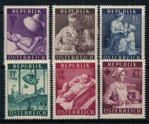 Austria #B288-93*  CV $14.30