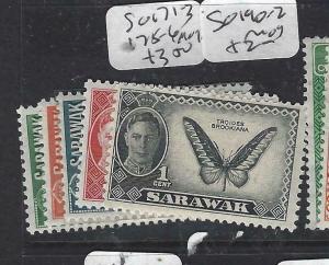 SARAWAK  (P2704B)  KGVI   SG 171-3, 175-6   MOG