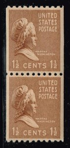 US STAMP #840  1939 1 1/2c MNH PAIR 1939 Presidential Series Rotary Coil XFS