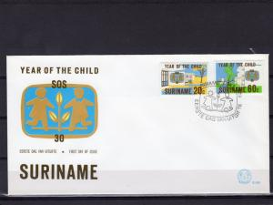 Suriname 1979 Sc# 539-40 International Year of the Child ICY Set (2) FDC