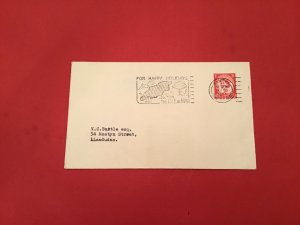 Britain Isle of Man For Happy Holidays 1964  Slogan Cancel Stamp Cover R36015