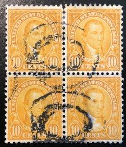 591 1922 Americans Series, 10x10 perf., Circ. block, Vic's Stamp Stash