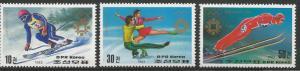 KOREA, NORTH 2320-2322, MNH, WINTER OLYMPICS