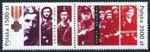 Poland 3120-3121a,3122,MNH.Michel 3413-3414,Bl.120. Home army,soldiers,WPAK,1992