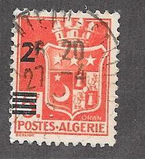 Algeria #166   overprint  (U) CV $0.25