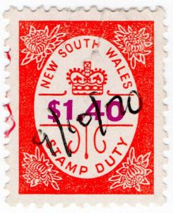 (I.B) Australia - NSW Revenue : Stamp Duty $1.40