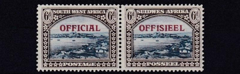 SOUTH WEST AFRICA  1945 - 50   S G  022   6D  BLUE &  BROWN  MH