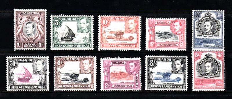 UGANDA/KENYA/TANGANYICA SC# 66,67,69,72,75,79,80,81,82,83 MH