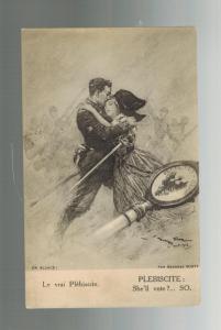 1917 France Alsace Lorraine Postcard Cover Plebiscite ADF