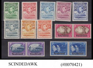 BASUTOLAND - 1938-45 SELECTED STAMPS OF KGVI -  14V - MINT HINGED