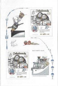 1983  CZECHOSLAVAKIA  -  SG.  MS 2673  -  SPACE FLIGHT  -  MNH