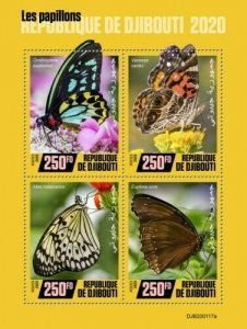 2020/02- DJIBOUTI - BUTTERFLIES           4V    MNH **