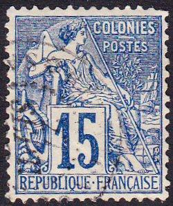 French Colonies #51 used 15c