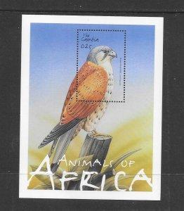 BIRDS -  GAMBIA #2495 KESTREL  MNH