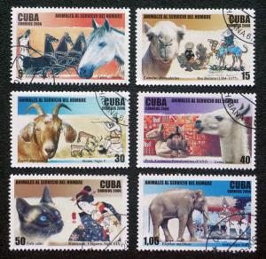 CUBA Sc# 4641-4646 DOMESTICATED ANIMALS pets Cpl set of 6  2006 used / cancelled