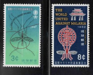 RYUKYU (Okinawa) Scott 95-96 MNH** WHO Malaria Eradication set