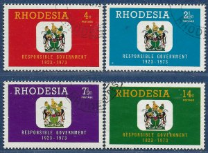 Rhodesia sg 484-7 used 1973 set of 4 Responsible Government