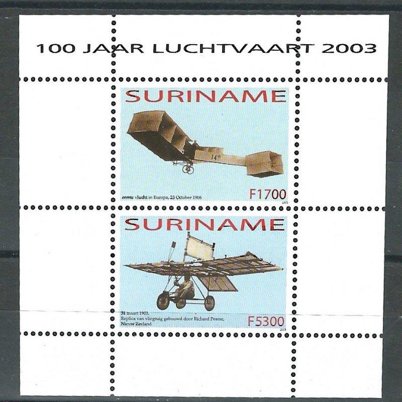 Surinam   SS    Planes  Mint NH VF  2003  PD
