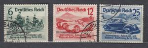 Germany - 1939 overprinted Auto Exhibition Sc# B141/B143 - (2836)