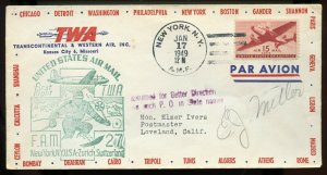 U.S. Scott C28 on FAM 27 First Flight Cover Returned No such P.O. in State