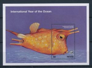 [34987] Nevis 1998 Marine Life Unesco Cowfish MNH Sheet