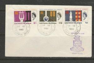 Cayman islands FDC 1966 UNESCO, Illus STAKE BAY cds, Unaddressed