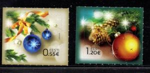Estonia Sc 775-6  2014  Christmas stamp set mint NH
