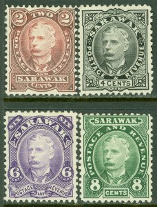 EDW1949SELL : SARAWAK 1895 SG #28-31 Cplt set VF, Mint No Gum. Fresh set Cat £85
