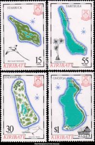 Kiribati Scott 487-490 Mint never hinged.