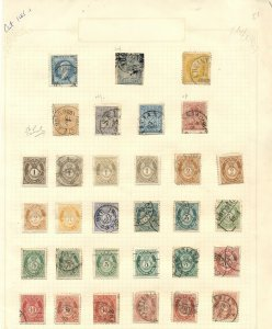 NORWAY collection of earlies, on pages, mostly used, F/VF, Scott $997.00