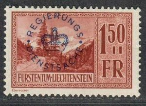 $Liechtenstein Sc#O20 M/H/VF, Cv. $42