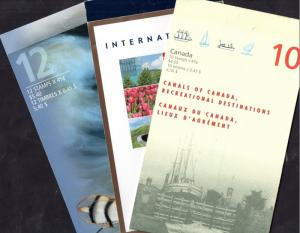 Canada 3 complete booklets Tourism, Fishing Flies and Canals WS7825