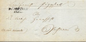 Unknown European Country Stampless Cover - 1840