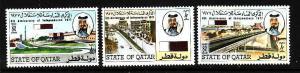 D3-Qatar-Scott#521-3-Unused lightly hinged set-Independence