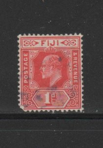 FIJI #60  1903  1p  KING EDWARD VII     F-VF  USED
