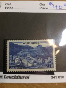 Andorra (French)  #  136  MNH