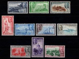 Barbados 1950 George VI Definitives Part Set [Unused]
