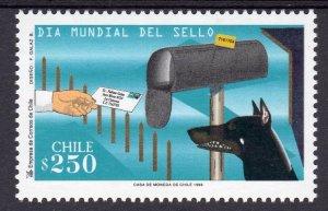 Chile 1998 Sc#1259  World Stamp Day-Dog Fauna Set (1) MNH